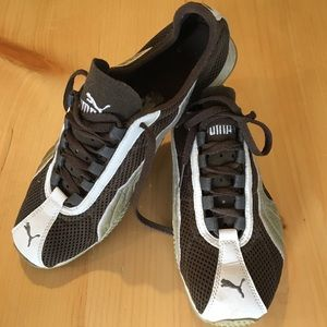 Brown Puma Athletic Shoes